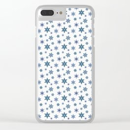 Snowflakes on a white background. Clear iPhone Case