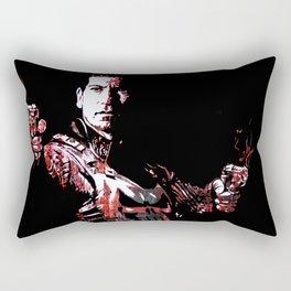 Jon Bernthal's Punisher Portrait pop Rectangular Pillow