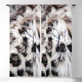 Snow Leopard Blackout Curtain