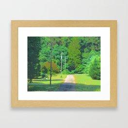 Down the Gravel Road Framed Art Print