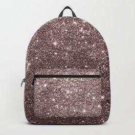 Modern mauve burgundy rose gold glitter Backpack