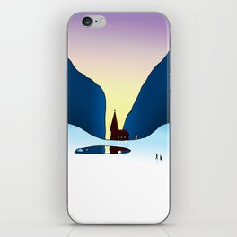 DEVOTIONAL IN THE SNOW iPhone Skin