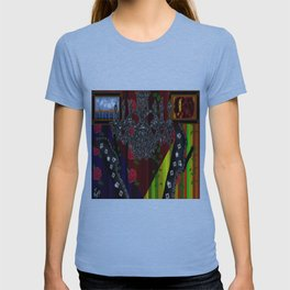 Black Boots in air by chandelier T-shirt