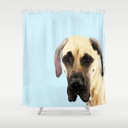 Great Dane Art - Dog Painting by Sharon Cummings Shower Curtain