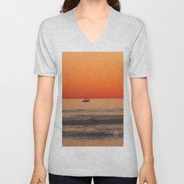 Indian Summer Sunset by Aloha Kea Photography Unisex V-Neck