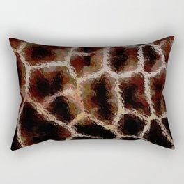 Brown Animal Print Rectangular Pillow