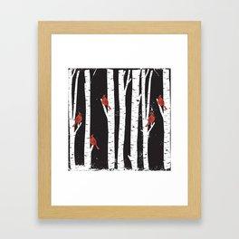 Northern Cardinal Birds Framed Art Print
