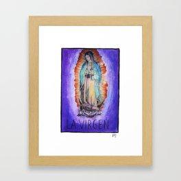 La Virgen Framed Art Print