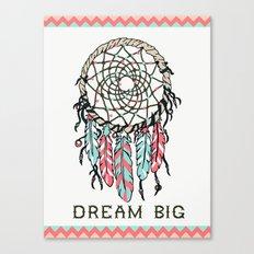Dream Big dreamcatcher art decor poster dorm college kids children  Canvas Print