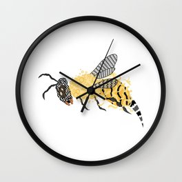 Abstract Bee Wall Clock