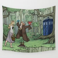 hallion Wall Tapestries featuring Visions are Seldom all They Seem by Karen Hallion Illustrations