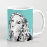 jennifer lawrence Mugs featuring Jennifer Lawrence by Sharin Yofitasari