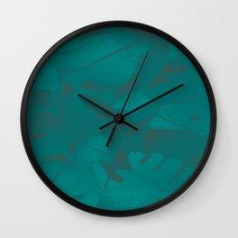 Green Blue Rhyme Wall Clock