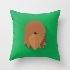 Chewbacca 2015 Flat Design Episode VII Throw Pillow