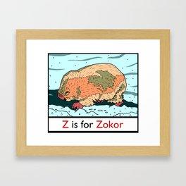 Z is for Zokor Framed Art Print