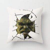 hulk Throw Pillows featuring Hulk by s2lart