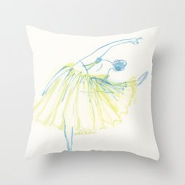 A Ballerina Throw Pillow