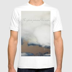 The Infinite is Within Us All Mens Fitted Tee MEDIUM White
