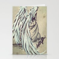 angel wings Stationery Cards featuring Angel Wings by Buttercream Art