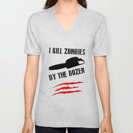 zombie funny Unisex V-Neck