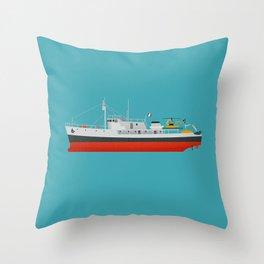 The Captain Jacques Kit Throw Pillow