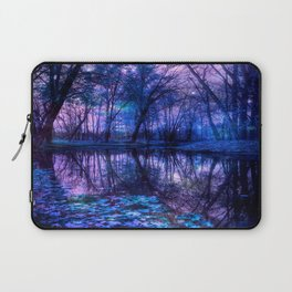 Enchanted Forest Lake Purple Blue Laptop Sleeve