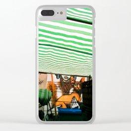 Market cat Clear iPhone Case