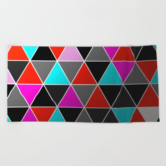 Industrial Triangles Beach Towel
