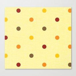 Polka Dot Love Canvas Print