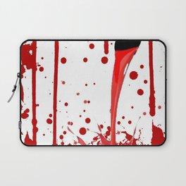 BLEEDING RED ART Laptop Sleeve