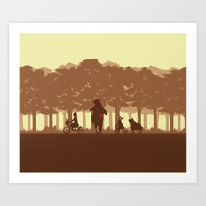 Biking with Friends Art Print