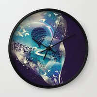 eye Wall Clocks featuring Dream Big by dan elijah g. fajardo