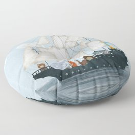 a nautical adventure Floor Pillow
