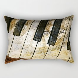 Piano Keys Music Collage abstract Rectangular Pillow