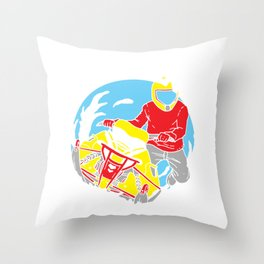 Snowmobiling Gift Make Winter Great Again Snowrider Sled Throw Pillow