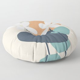 Abstract Flowers 3 Floor Pillow