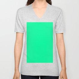 color medium spring green Unisex V-Neck