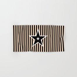 The Greatest Star! Black and Cream Hand & Bath Towel