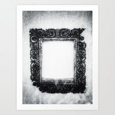 | a frame of nothing - or the mirroring of unborn thoughts | Art Print