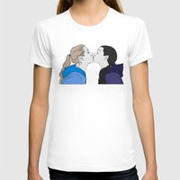 girly T-shirts featuring Girly kiss by VikaValter