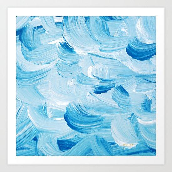 Aqua Abstract Art Print