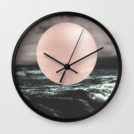 Marble Moon waves Wall Clock