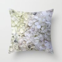 hydrangea Throw Pillows featuring Hydrangea by Awesome Palette