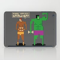 workout iPad Cases featuring Sweet Workout by Hoborobo