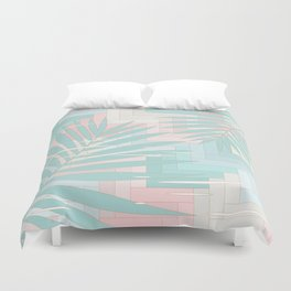 Summer Mood with Chevron and Palms Duvet Cover