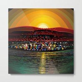 Angel Island Sunset (Square) Metal Print