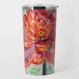 Chrysanthemum Abstract Travel Mug