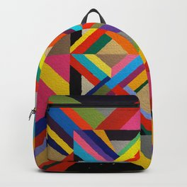 Multi Colour geometric abstract art Backpack
