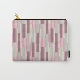 Colored stick pattern <bouquet pink> Carry-All Pouch