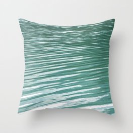 Water, waves and light Throw Pillow